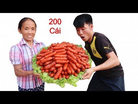 Bà Tân Vlog - Nướng 200 Cái Xúc Xích Siêu Cay Khổng Lồ Ăn Mừng 400.000 Subscribe - Thời lượng: 18:03.