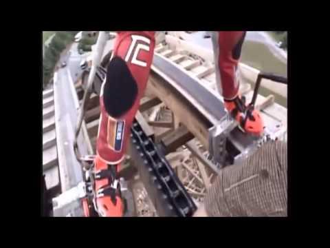 男子選擇挑戰自我在「超高速的雲霄飛車軌道進行溜冰破了世界紀錄!」