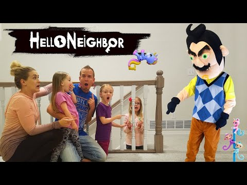 Hello Neighbor In Real Life!!! Fingerling Minis Scavenger Hunt! We Rescue A Kid!!!