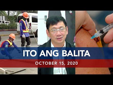 UNTV: Ito Ang Balita | October 15, 2020