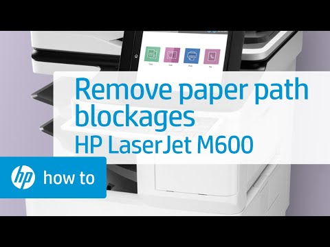 Removing Hard to Find Paper Path Blockages in HP LaserJet M600 Series Printers