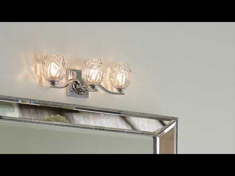 Video for Kalli Satin Nickel One-Light Bath Fixture
