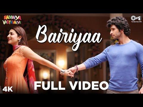 Bairiyaa Full Video- Ramaiya Vastavaiya   Girish Kumar & Shruti Haasan   Atif Aslam, Shreya Ghoshal