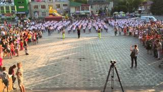 Big flashmob in Horodok with Amador Lopez