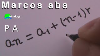 Aula de matemática - MABA PRODUÇÕES - Marcos aba ensina a lidar com PA (Progressão aritmética), apresentando os...