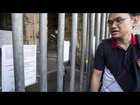 colosseo chiuso ai turisti per un'assemblea sindacale!