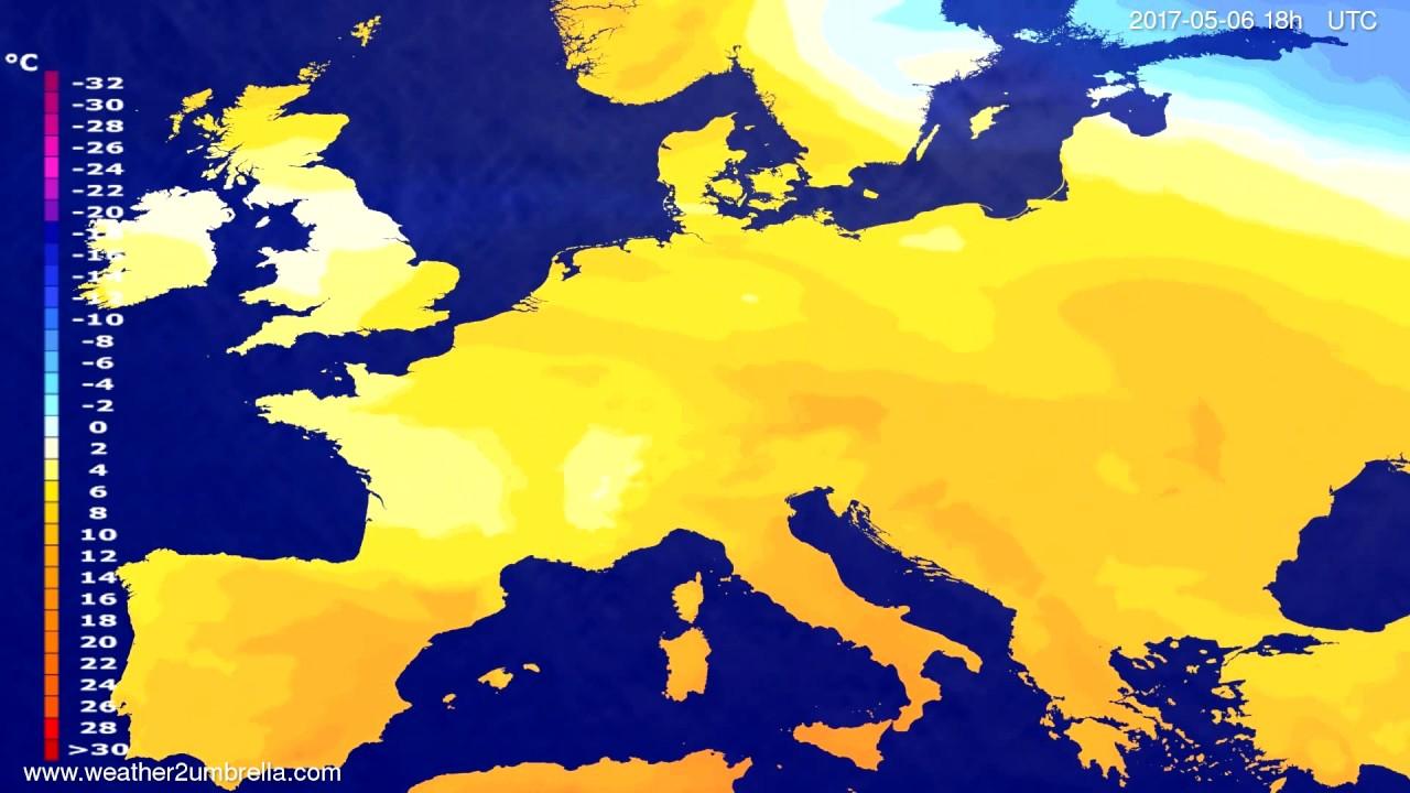 Temperature forecast Europe 2017-05-03
