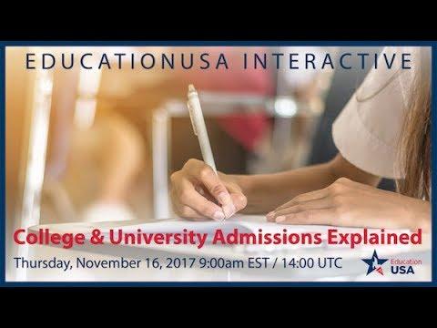 EducationUSA   U.S. College & University Admissions (Nov. 2017)