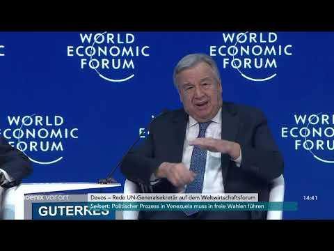 Rede von UN-Generalsekretär Antonio Guterres auf dem We ...