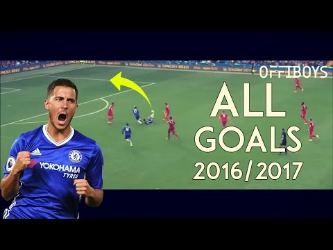 Eden Hazard - All Goals For Chelsea - 2016/17 | HD