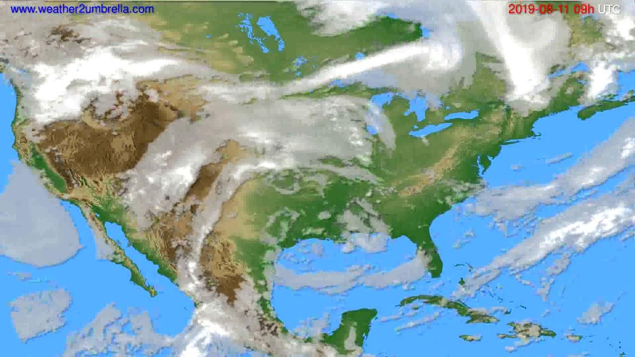 Cloud forecast USA & Canada // modelrun: 12h UTC 2019-08-09
