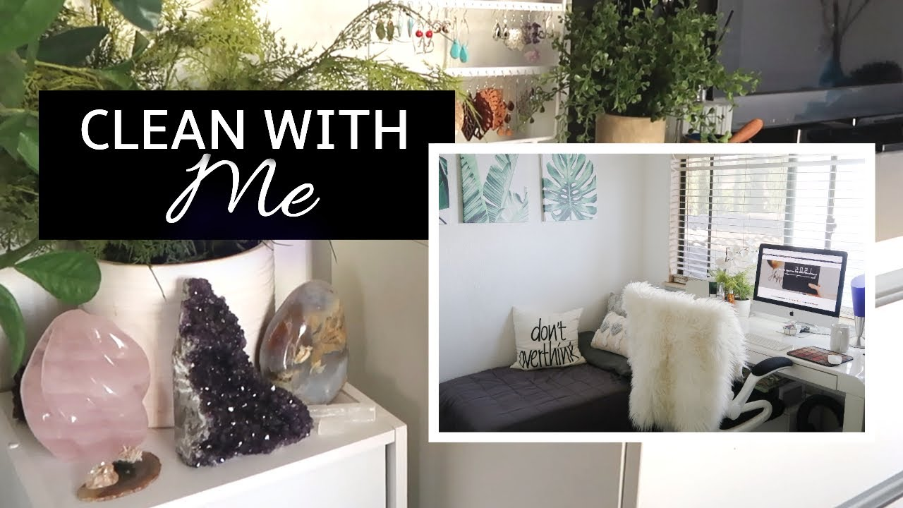 CLEANING my HOME OFFICE and MAKEUP ROOM for NEW YEAR 2021 | HAWAII life