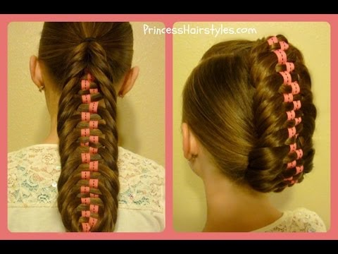 Checkerboard Fishtail Braid Tutorial, Ponytail and Updo Hairstyles