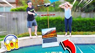 Video DESTROYING MY GIRLFRIENDS LAPTOP WITH A DRONE! **GONE WRONG** MP3, 3GP, MP4, WEBM, AVI, FLV Agustus 2019