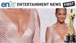 OSCARS 2012 J LO NIP SLIP: Jennifer Lopez Funny Wardrobe Malfunction Pics: ENTV