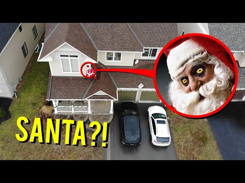 DRONE CATCHES SANTA CLAUS ON CHRISTMAS DAY DELIVERING PRESENTS!! (YOU WON'T BELIEVE IT)