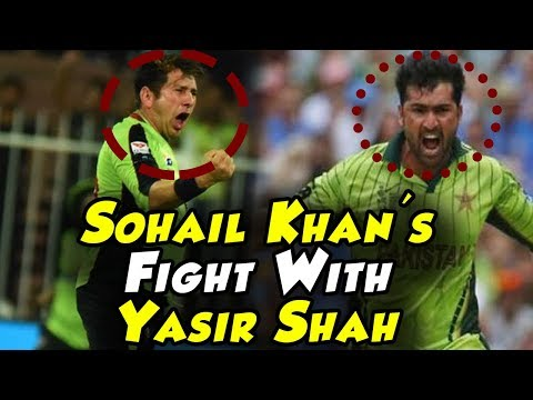 Sohail Khan Silly Fight With Yasir Shah | Lahore Qalandars Vs Quetta Gladiators | PSL 2018