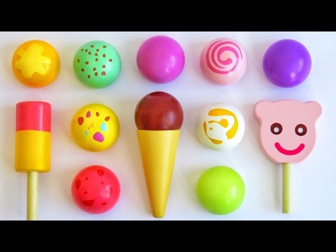 Toy ice cream popsicles learn colors for babies toddlers preschoolers