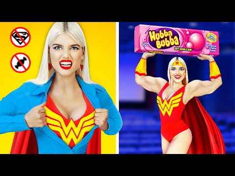 7 Funny Ways to Sneak Superheroes into the Movies! Awkward Situations with Sneak Food by RATATA