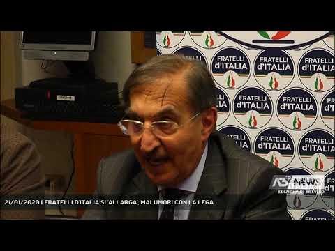 21/01/2020 | FRATELLI D'ITALIA SI 'ALLARGA', MALUMORI CON LA LEGA