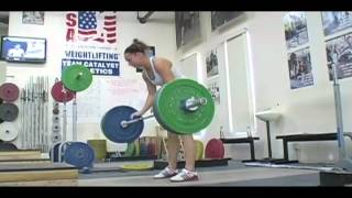 Daily Training 9-24-12 - Weightlifting training footage of Catalyst weightlifters. Alyssa clean, Erik front squat, Audra back squat, Audra clean and jerk.