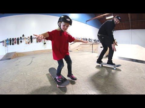 HOW TO TEACH A KID TO SKATEBOARD!