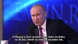 Velká tisková konference Vladimira Putina 18.12.2014 první část