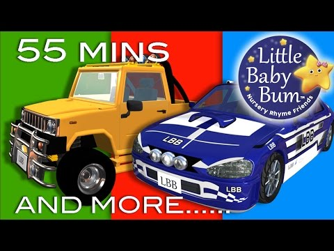 Driving In My Car | Plus Lots More Nursery Rhymes | 55 Minutes Compilation from LittleBabyBum!