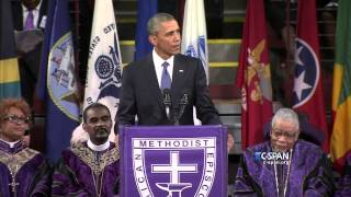 President Obama delivers Eulogy at Pinckney Funeral