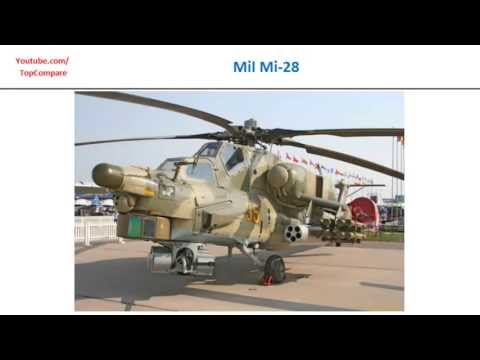 Kamov Ka-50 compared with Mil Mi-28,...