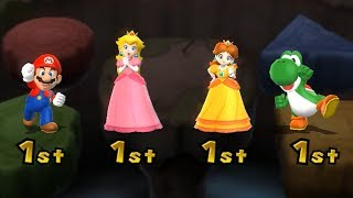 Mario Party 9 Boss Rush - Peach vs Mario vs Daisy vs Yoshi| Cartoons Mee