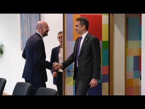 Συνάντηση του Πρωθυπουργού με τον Σαρλ Μισέλ