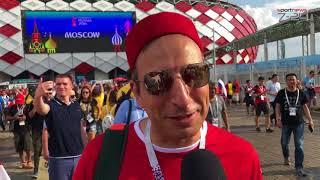 La réaction des supporters tunisiens après la défaite face à la Belgique