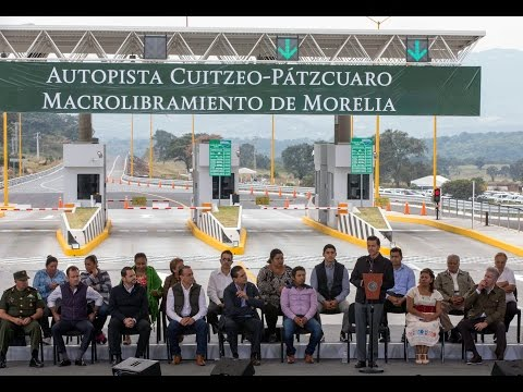 Peña Nieto en la Entrega de la Autopista Cuitzeo-Pátzcuaro y del Periférico la Piedad