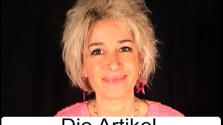 """Deutsche Grammatik: """"Die Artikel"""" (mit Sonja Hubmann)"""