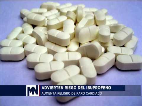 Consumo de Ibuprofeno aumenta el riesgo de paro cardiaco