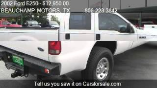2002 Ford F250 XLT Crew Cab 4WD - for sale in AMARILLO, TX 7