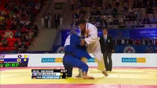 Asley Gonzalez (Cuba) vs Aaron Hildebrand (Germany) World Judo Championships 2015 - AstanaJudo - 90kg