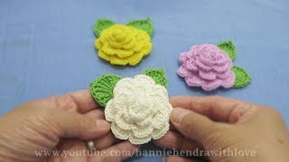 Crochet ||  Cara Merajut Bunga - Flower Crochet || 005