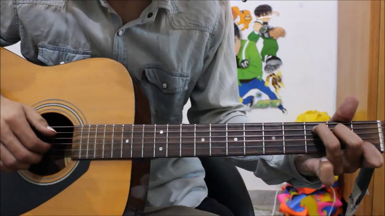 2 Best Romantic songs Hindi – Guitar cover lesson chords beginners easy