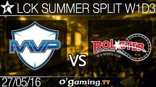 MVP vs KT Rolster - LCK Summer Split 2016 - W1D3