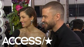 Video Justin Timberlake & Jessica Biel On The Success Of 'The Sinner' & What's New With Baby Silas download in MP3, 3GP, MP4, WEBM, AVI, FLV January 2017
