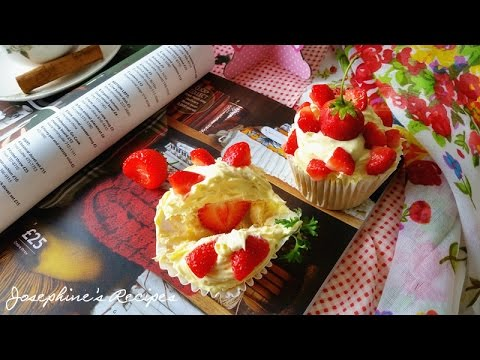 Strawberry Chiffon Cupcakes | Chiffon Cake with Strawberries (Re-Uploaded) Josephine's Recipes 130