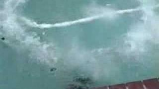Dry ice bomb in swimming pool