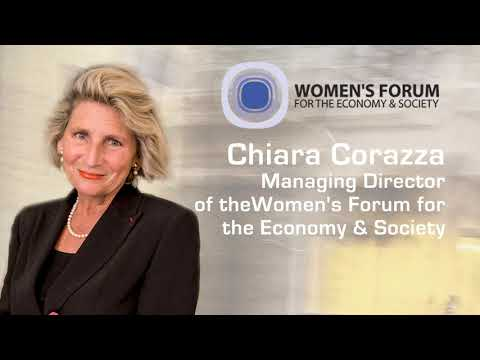 Chiara Corazza Managing Director of the Women's Forum for the Economy & Society interviewed by WWIRE Part: 2