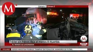 Carambola deja al menos 9 muertos en la México-Toluca