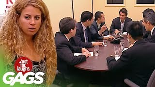 JFL Hidden Camera Pranks&Gags: Toilet Boardroom Surprise
