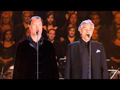 Tekst piosenki Andrea Bocelli - Au fond du temple saint  feat. Bryan Terfel po polsku