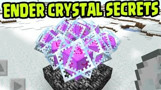 MCPE 1.0 UPDATE ENDER CRYSTAL SECRET TIPS!! Ender Crystals SECRETS Minecraft PE (Pocket Edition)