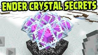 MCPE 1.0 UPDATE ENDER CRYSTAL SECRET TIPS!! Ender Crystals SECRETS Minecraft PE (Pocket Edition)